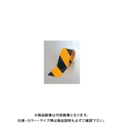 【運賃見積り】【直送品】安全興業 ダイヤテープ(10M巻)90mm巾 黄/黒 (12入) NRB-90