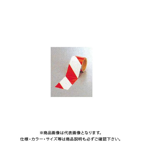 【運賃見積り】【直送品】安全興業 ダイヤテープ(10M巻)90mm巾 赤/白 (12入) NRR-90