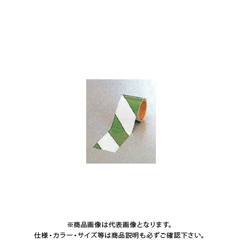 【運賃見積り】【直送品】安全興業 ダイヤテープ(10M巻)90mm巾 緑/白 (12入) NRG-90