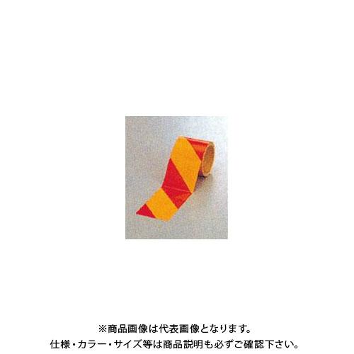 【運賃見積り】【直送品】安全興業 ダイヤテープ(10M巻)90mm巾 赤/黄 (12入) NRY-90