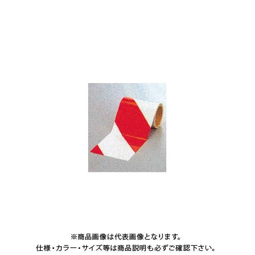 【運賃見積り】【直送品】安全興業 ダイヤテープ(10M巻)150mm巾 赤/白 (6入) NRR-150