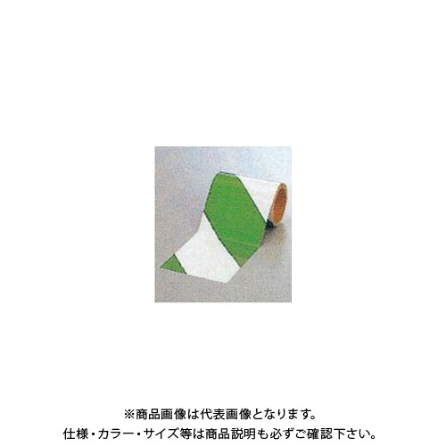 【運賃見積り】【直送品】安全興業 ダイヤテープ(10M巻)150mm巾 緑/白 (6入) NRG-150