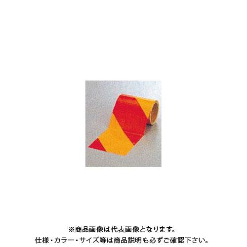 【運賃見積り】【直送品】安全興業 ダイヤテープ(10M巻)150mm巾 赤/黄 (6入) NRY-150