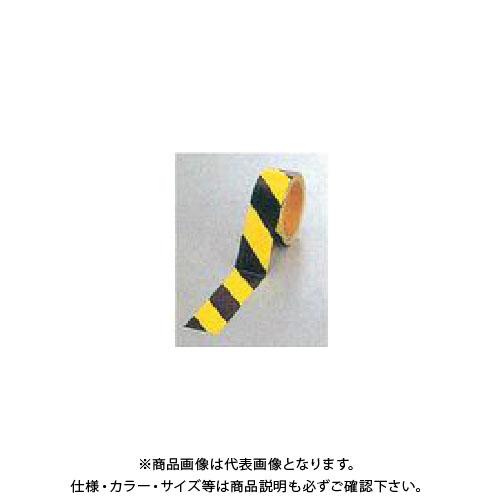 【運賃見積り】【直送品】安全興業 蛍光ダイヤテープ(10M巻)45mm巾 (24入) NRL-45
