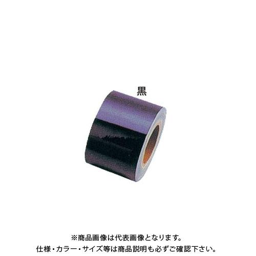 【運賃見積り】【直送品】安全興業 反射シート6 黒 100mm×46M (1入) YT-6