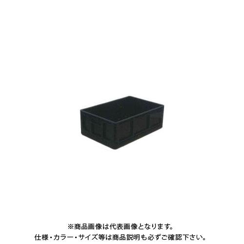 【直送品】安全興業 折りたたみBOX 黒 550×370×200mm 収納時:高さ56mm (10入)