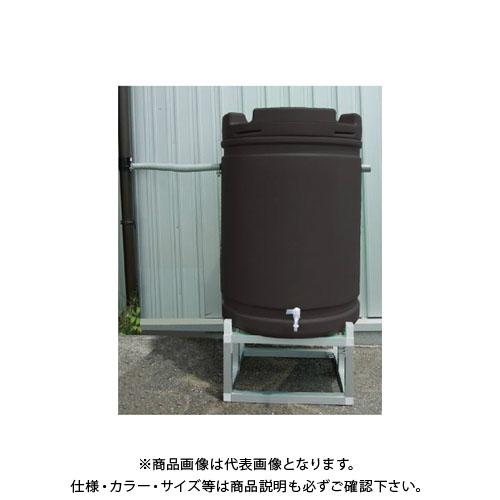 【直送品】安全興業 雨水タンク+アルミ台セット 茶色 835×580mm (1入)