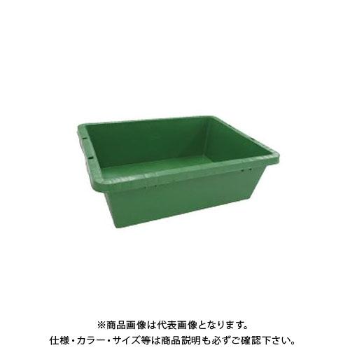 【直送品】安全興業 プラ箱 40 緑 497(600)×360(455)×190mm (10入)