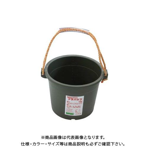 【直送品】安全興業 プラバケツ 13型 グレー 355×250×320φ (14入)
