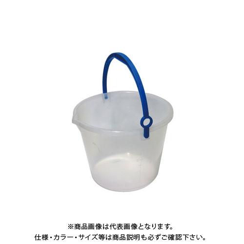 【直送品】安全興業 透明バケツ 10L 乳白色 300φ×235mm (40入)