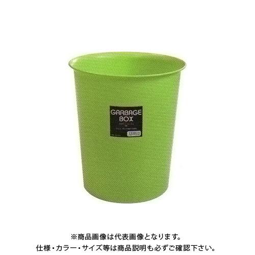 【直送品】安全興業 丸型ダストボックス 薄緑 265φ×300mm (32入)