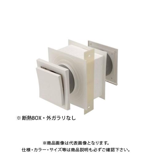 【運賃見積り】【直送品】日本住環境 給気口 スクウェアフロー断熱BOX・外ガラリなし(5個) (031106007)