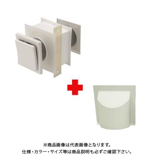 【運賃見積り】【直送品】日本住環境 給気口 スクウェアフロー+フードルーバー黒(5個) (031106022)