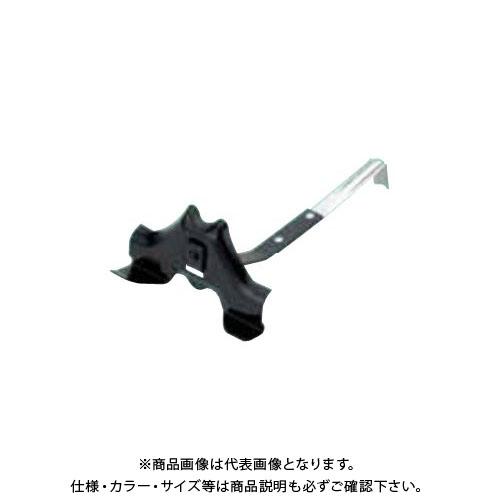 スワロー工業 D353 亜鉛板 黒色 F型 富士型雪止 短足 (100入) 0112100