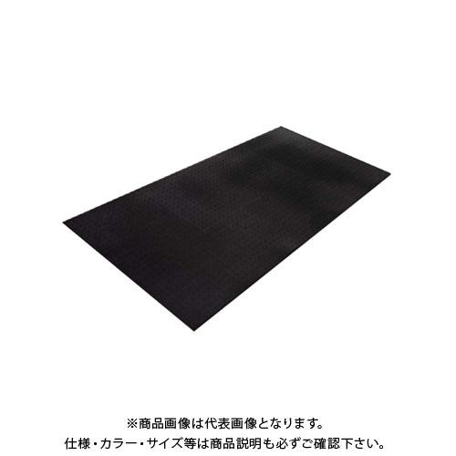 【運賃見積り】【直送品】エムエフ ブラックターフ 凸凹あり(1枚入) 15mmt×1000×2000mm G21-013