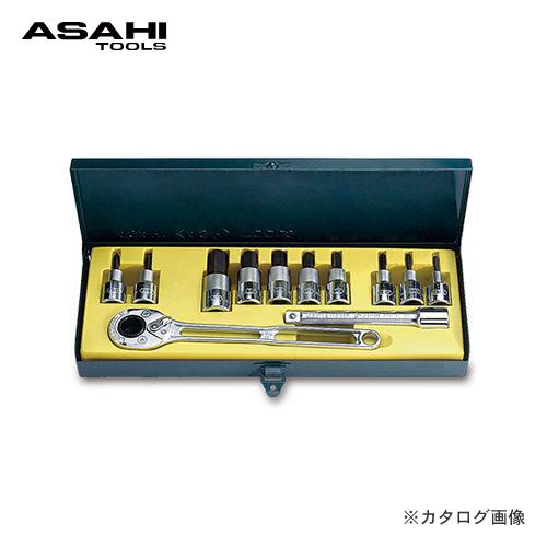 アサヒ ASH ソケットレンチ用ヘキサゴンソケットセット12.7□ VX4000