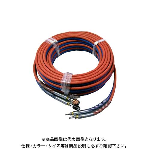 BBK ブルーパックS用 酸素 アセチレン用ツインホース カプラー式 15m C17 (303-0620)
