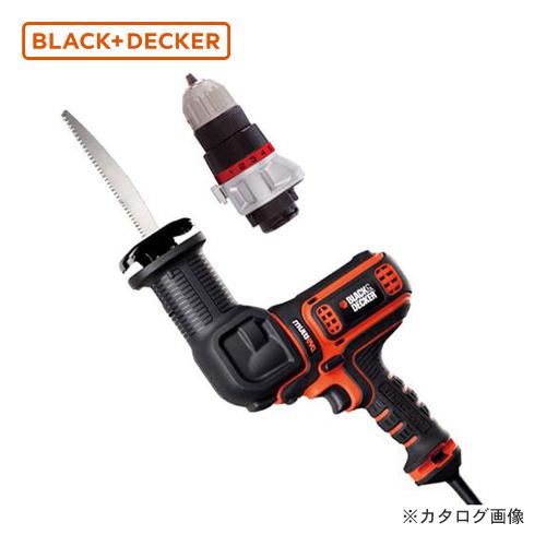 ブラックアンドデッカー BLACK&DECKER EVO コード式マルチのこぎり+ドリルド ライバーヘッド付き EARD800 589079