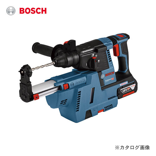 【お買い得】ボッシュ BOSCH コードレスハンマードリル GBH18V-26GDE (6.0Ahバッテリー2個、充電器、キャリングケース、吸じんアダプターサイドハンドル、深さゲージ付)
