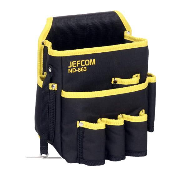 耐摩耗ポリエステルキャンバス 強化縫製仕上げ デンサン DENSAN テープフッカー付 安い 激安 プチプラ 送料無料/新品 高品質 ND-863 電工キャンバスハイポーチ