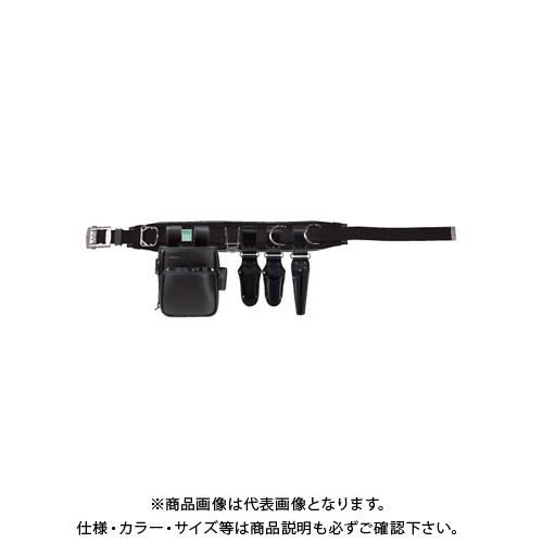 デンサン DENSAN ハイグレードレザー腰道具セット アルミスライドバックル JNDSW-96BK-SET