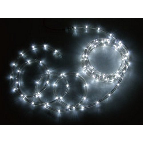 ジェフコム JEFCOM LEDソフトネオン ロッド 8.0m 白・白 PR3L-E24-08WW