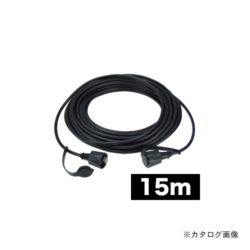 デンサン DENSAN 屋外用LANコネクタ付ケーブル 15m LCAT5E-15WP