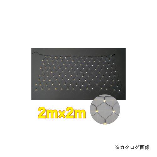 ジェフコム JEFCOM LEDクロスネット 2m×2m (黄・黄) SJ-N20-YY