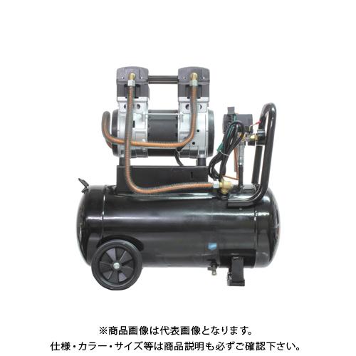 【運賃見積り】【直送品】ムサシトレイディング 静音オイルレスコンプレッサー 38L DZW038BK