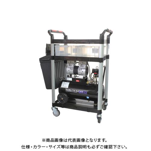 【運賃見積り】【直送品】ムサシトレイディング 静音オイルレスコンプレッサー 30L &カート(707F)&ホルダー(508-US) LWH-707F-CP600