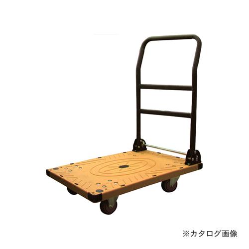 【運賃見積り】【直送品】アイガーツール 静音カラー台車ワイド イエロー 300kg 900-L1
