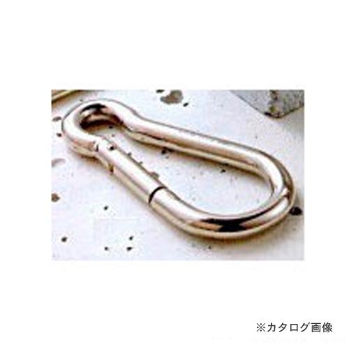 【運賃見積り】【直送品】 伊藤製作所 123 カラビナハーケン(国産) 鉄 8C 20個 KH8C