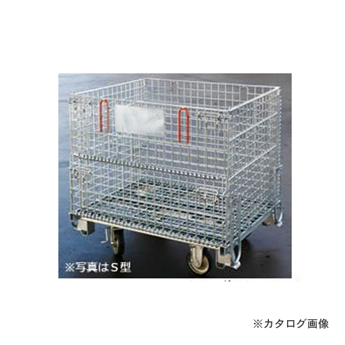 【運賃見積り】【直送品】伊藤製作所 123 吊り上げ式かご型パレットL型 1台 PM-LPC