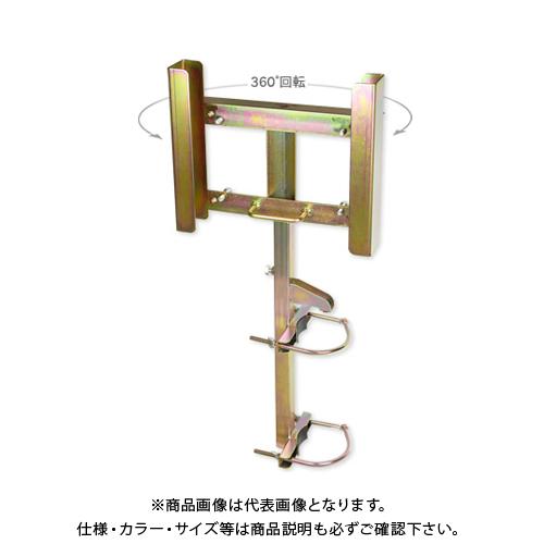 【運賃見積り】【直送品】伊藤製作所 123 ブロー枠用サインホルダー(ガードレール支柱Φ114用) SBH-1-b