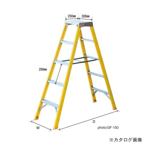 【直送品】ナカオ GF(局内用脚立) GF-350