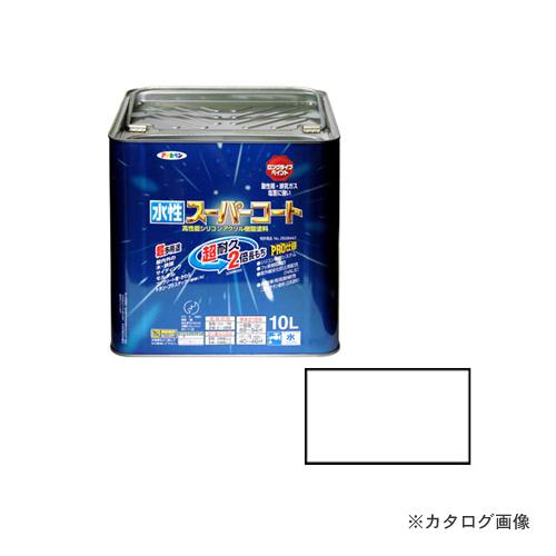 アサヒペン AP 水性スーパーコート 10L 白