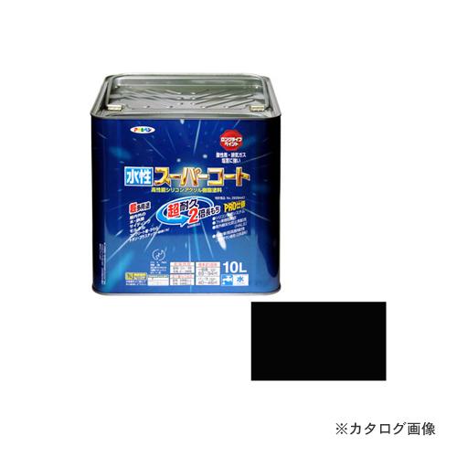 アサヒペン AP 水性スーパーコート 10L 黒
