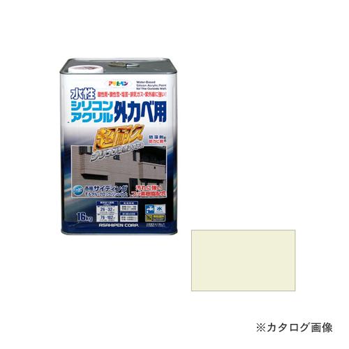 アサヒペン AP水性シリコンアクリル外かべ用 16KG ミルキーホワイト