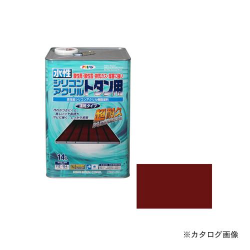 アサヒペン AP 水性シリコンアクリルトタン用 14L 赤さび