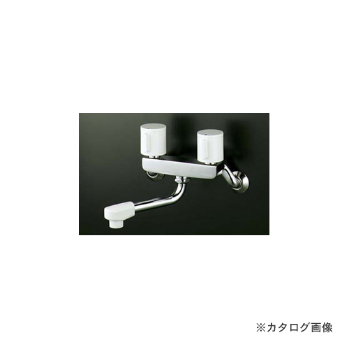 KVK KM2G3R24 2ハンドル混合栓240mmP付