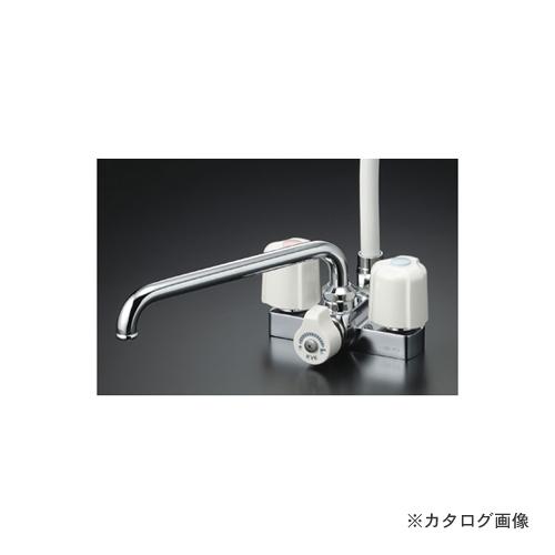 KVK KF12ER3 デッキ2ハンドルシャワー300mmP付