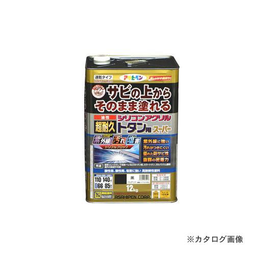 アサヒペン AP 油性超耐久シリコンアクリルトタン用 12kg (黒)