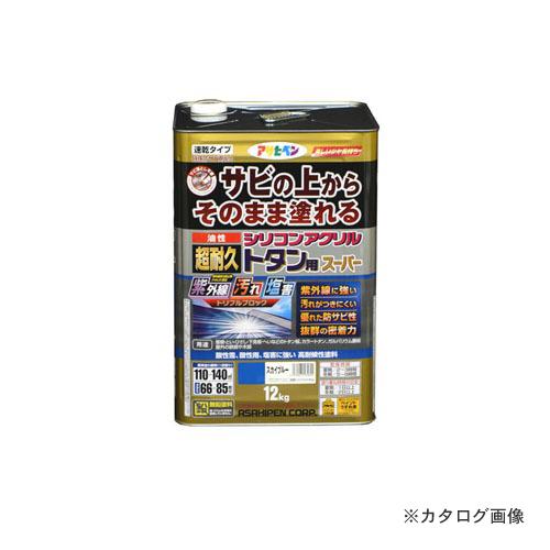 アサヒペン AP 油性超耐久シリコンアクリルトタン用 12kg (スカイブルー)