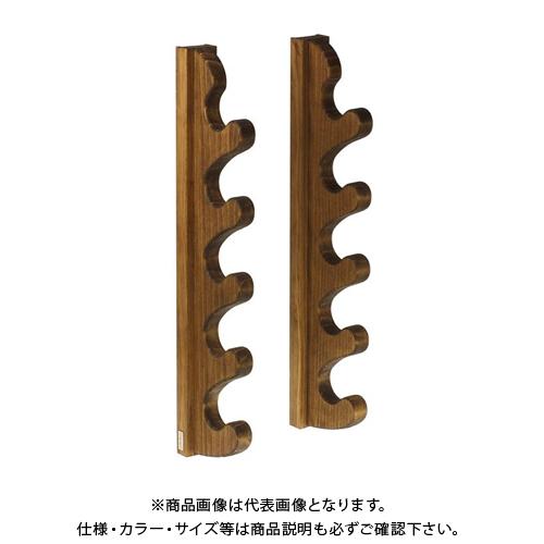 ライフサーブ アクアリデオ EASY RAKE for Rod ウェーブフォーム 5段 (ブラウン) 2本1セット