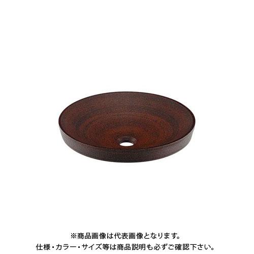 カクダイ 丸型洗面器/窯肌 493-014-M
