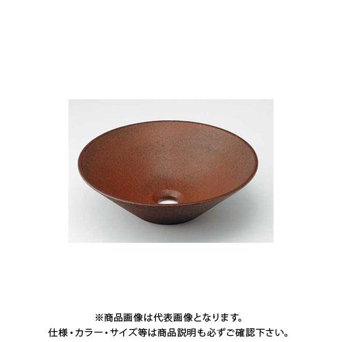 【12/5限定 ストアポイント5倍】カクダイ 丸型手洗器/窯肌 493-037-M