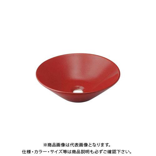 カクダイ 丸型手洗器/鉄赤 493-037-R