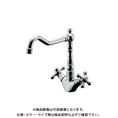 カクダイ 2ハンドル混合栓 150-430