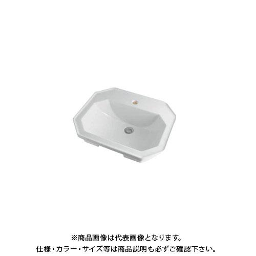 カクダイ 角型洗面器/1ホール DU-0476580000
