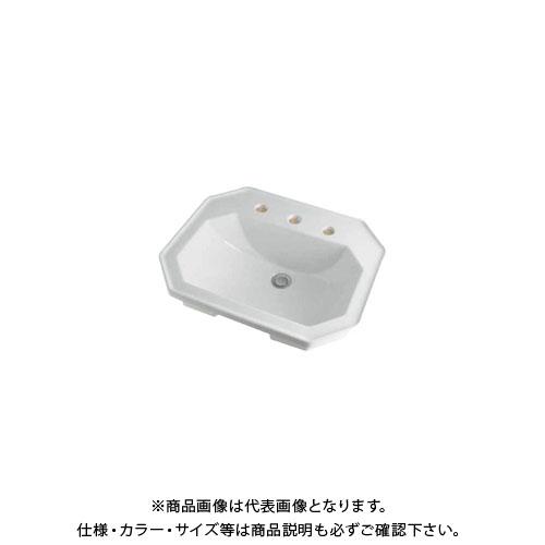【12/5限定 ストアポイント5倍】カクダイ 角型洗面器/3ホール DU-0476580030